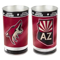 """Picture of Arizona Coyotes Wastebasket - tapered 15""""H"""