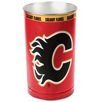 """Picture of Calgary Flames Wastebasket - tapered 15""""H"""