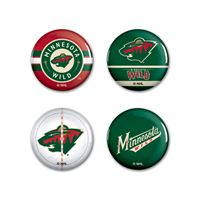 "Picture of Minnesota Wild Button 4 Pack 1 1/4"" Rnd"