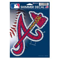 "Picture of Atlanta Braves Shimmer Decals 5"" x 7"""