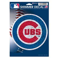 "Picture of Chicago Cubs Shimmer Decals 5"" x 7"""