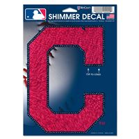 "Picture of Cleveland Indians Shimmer Decals 5"" x 7"""