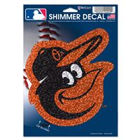 "Picture of Baltimore Orioles Shimmer Decals 5"" x 7"""