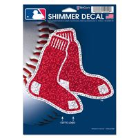 "Picture of Boston Red Sox Shimmer Decals 5"" x 7"""