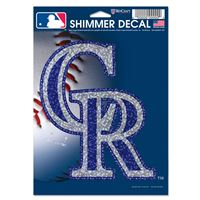 "Picture of Colorado Rockies Shimmer Decals 5"" x 7"""
