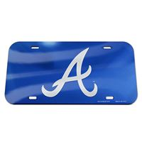 Picture of Atlanta Braves Crystal Mirror License Plate