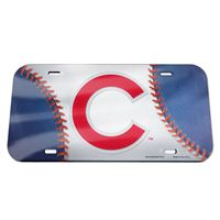 Picture of Chicago Cubs Crystal Mirror License Plate