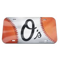 Picture of Baltimore Orioles Crystal Mirror License Plate