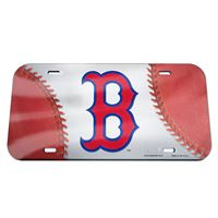 Picture of Boston Red Sox Crystal Mirror License Plate