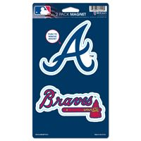 "Picture of Atlanta Braves 2 Pack Magnets 5"" x 9"""