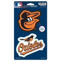 "Picture of Baltimore Orioles 2 Pack Magnets 5"" x 9"""