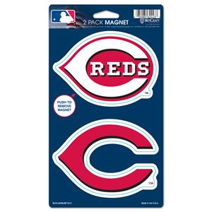 "Picture of Cincinnati Reds 2 Pack Magnets 5"" x 9"""