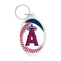 Picture of Angels Acrylic Key Ring Carded Oval