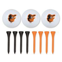 Picture of Baltimore Orioles 3 Golf Balls w/Tees