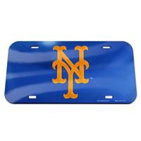 Picture of New York Mets Crystal Mirror License Plate