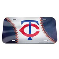 Picture of Minnesota Twins Crystal Mirror License Plate