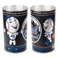 """Picture of New York Mets Wastebasket - tapered 15""""H"""