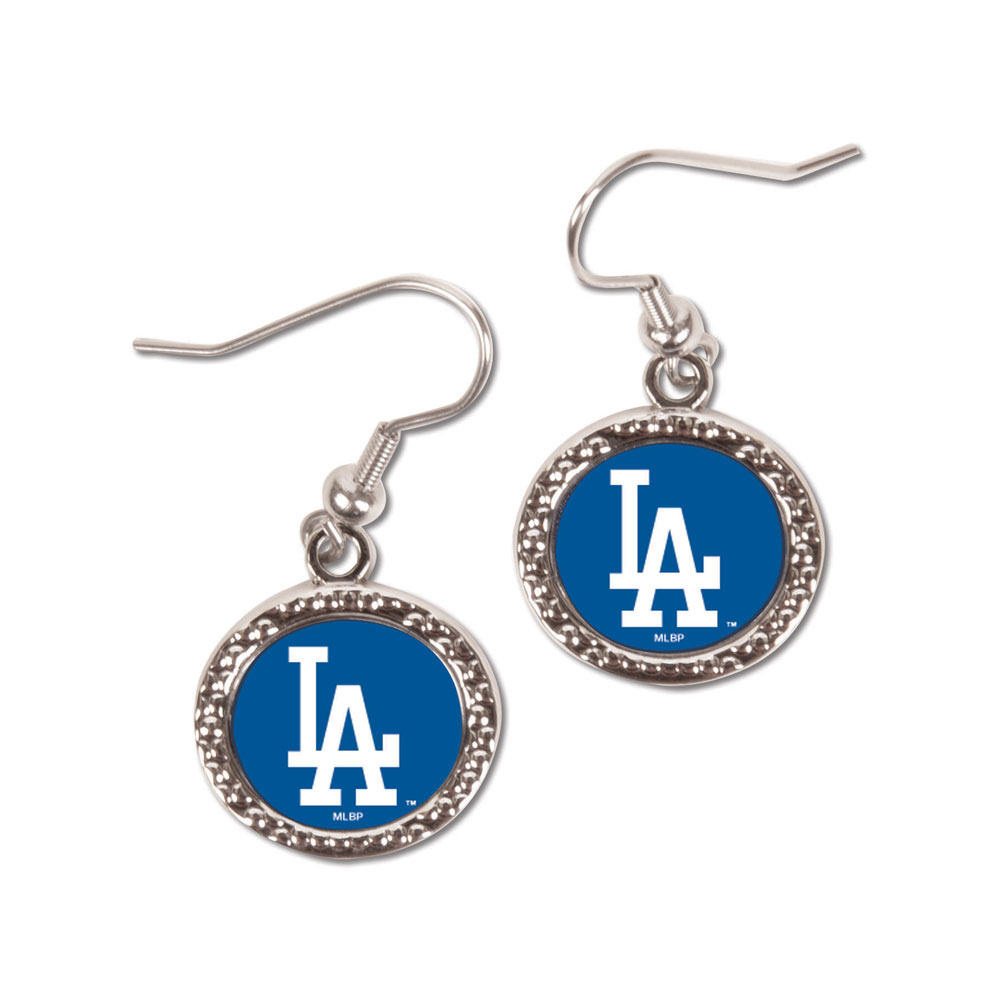 Picture Of Los Angeles Dodgers Earrings Jewelry Carded Round