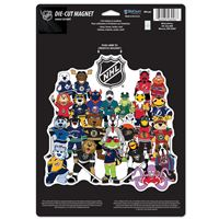 Picture of Mixed Teams Die Cut Logo Magnet Mascots