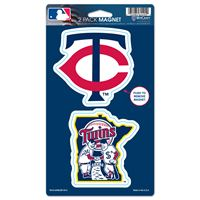 "Picture of Minnesota Twins 2 Pack Magnets 5"" x 9"""