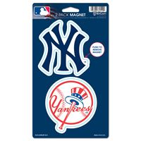 """Picture of New York Yankees 2 Pack Magnets 5"""" x 9"""""""