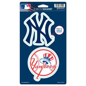"Picture of New York Yankees 2 Pack Magnets 5"" x 9"""