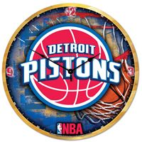 "Picture of Detroit Pistons Plaque HD Clock 18"" Dia"