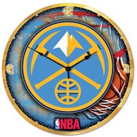 "Picture of Denver Nuggets Plaque HD Clock 18"" Dia"