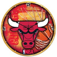 "Picture of Chicago Bulls Plaque HD Clock 18"" Dia"