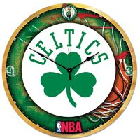"Picture of Boston Celtics Plaque HD Clock 18"" Dia"