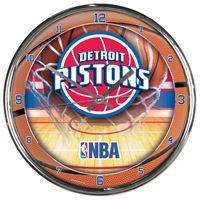 Picture of Detroit Pistons Chrome Clock
