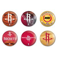 "Picture of Houston Rockets Button 6 Pack 2"" Round"