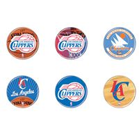"""Picture of Los Angeles Clippers Button 6 Pack 2"""" Round"""