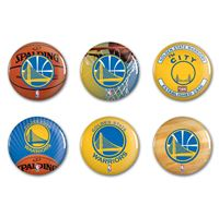 "Picture of Golden State Warriors Button 6 Pack 2"" Round"