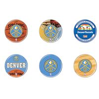 "Picture of Denver Nuggets Button 6 Pack 2"" Round"