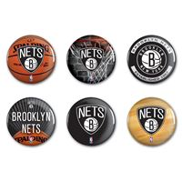 """Picture of Brooklyn Nets Button 6 Pack 2"""" Round"""