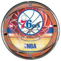 Picture of Philadelphia 76ers Chrome Clock