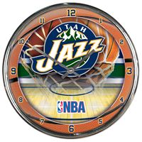 Picture of Utah Jazz Chrome Clock