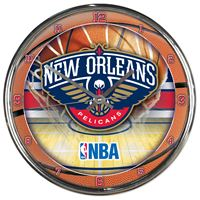 Picture of New Orleans Pelicans Chrome Clock