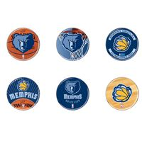 "Picture of Memphis Grizzlies Button 6 Pack 2"" Round"