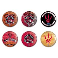"""Picture of Toronto Raptors Button 6 Pack 2"""" Round"""