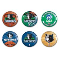 """Picture of Minnesota Timberwolves Button 6 Pack 2"""" Round"""