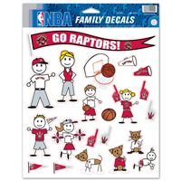 """Picture of Toronto Raptors Family Decal Sheet 85"""" x 11"""""""