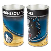 """Picture of Minnesota Timberwolves Wastebasket - tapered 15""""H"""