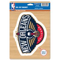 "Picture of New Orleans Pelicans Die Cut Logo Magnet 625"" x 9"""