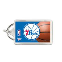 Picture of Philadelphia 76ers Acrylic Key Ring Carded Rectangle
