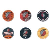 """Picture of Portland Trail Blazers Button 6 Pack 2"""" Round"""