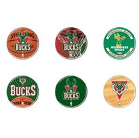 "Picture of Milwaukee Bucks Button 6 Pack 2"" Round"