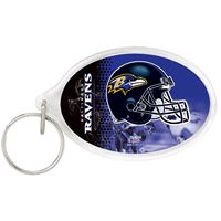 Picture of Baltimore Ravens Acrylic Key Ring Carded Oval