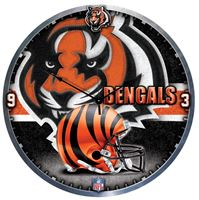 "Picture of Cincinnati Bengals Plaque HD Clock 18"" Dia"